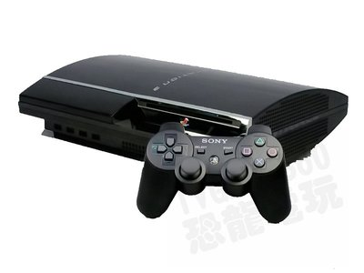 【二手主機】PS3 厚型 黑色主機 80G 附原廠黑色無線控制器+HDMI線 3.55版【台中恐龍電玩】
