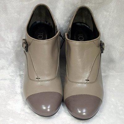 旺角名店 TOD'S  雙色 高跟短靴...