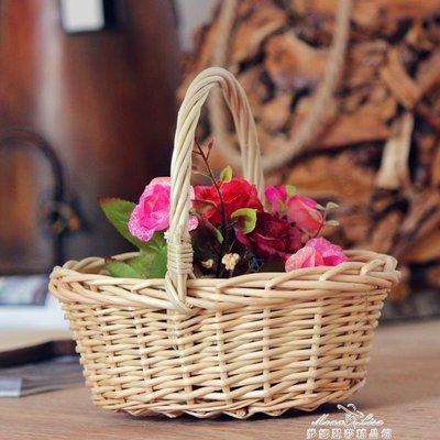 小花籃 提籃  田園兒童 婚禮花童撒花瓣筐 迷你提籃精品擺設插花 促銷價