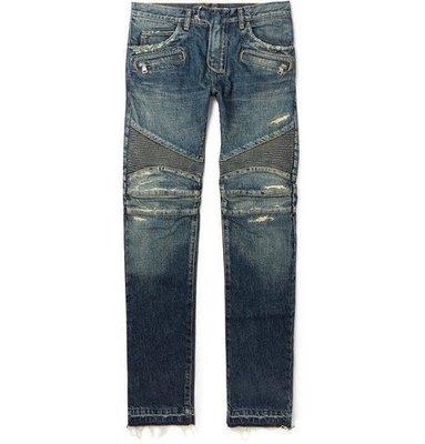 [ 羅崴森林 ]現貨55折BALMAIN FW1516新品 修身仿舊騎士牛仔褲size31
