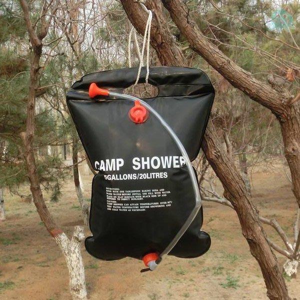 章魚球百貨 登山露營 太陽能熱水袋 20公升 沐浴水袋 淋浴水袋 儲水袋 洗澡水袋 盥洗袋 水袋 水桶【673098】