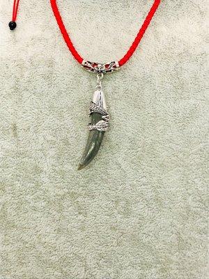 龍紋石。狼牙項鍊。031