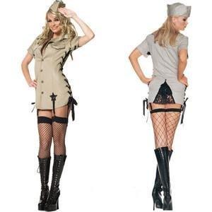 Halloween Cosplay Leg Avenue Pin Up Army 女軍人 萬聖節服飾