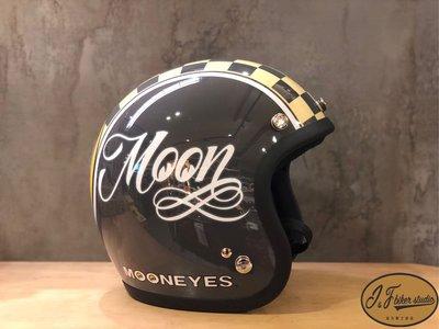 MOONEYES X Gallop 安全帽 復古 vespa 偉士 凱旋 CB SR 哈雷 ducati 重機