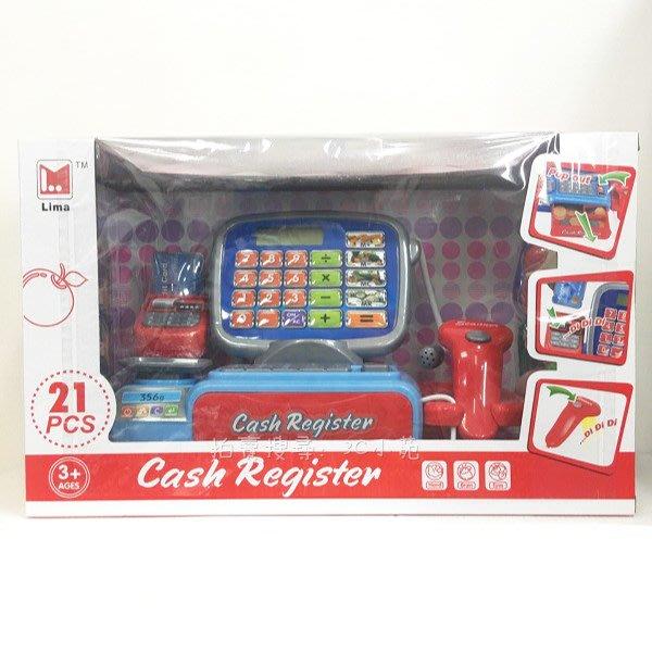 【HAHA小站】2387 收銀機 收銀台 音效 超市 仿真 兒童 益智 玩具 扮家家酒 聖誕 生日 禮物