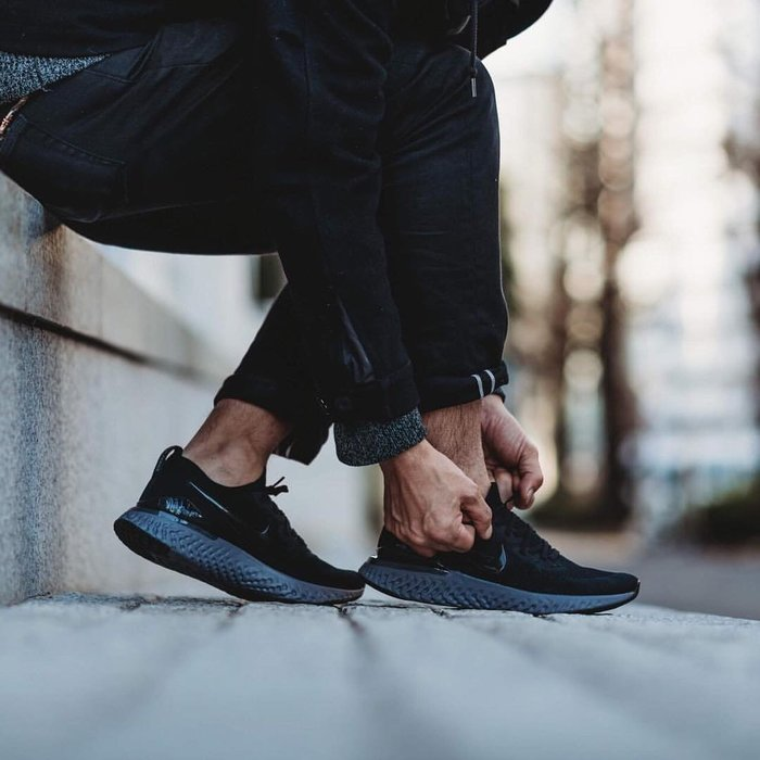 NIKE EPIC REACT FLYKNIT 2 黑灰 亮黑勾 針織 雪花 襪套 慢跑 男鞋 BQ8928-001