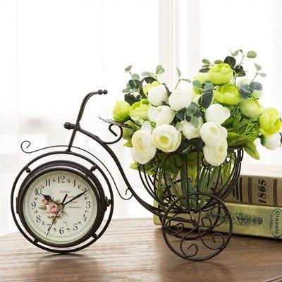 〖洋碼頭〗歐式臺式雙面座鐘臺鐘創意鐘錶家用坐鐘時鐘復古客廳桌面擺件大號 xtm110