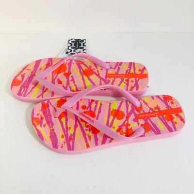 《現貨》Ipanema 女生夾腳拖鞋 巴西尺寸35,36,39/40(水墨塗鴉 人字夾腳平底拖鞋-粉色)