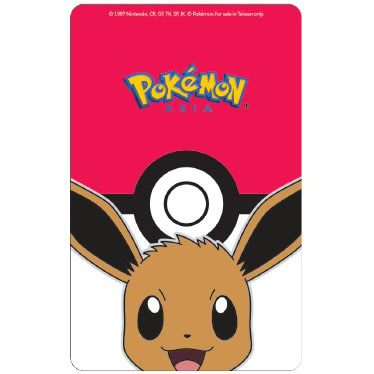Pokemon精靈寶可夢寶貝球與伊布閃卡悠遊卡