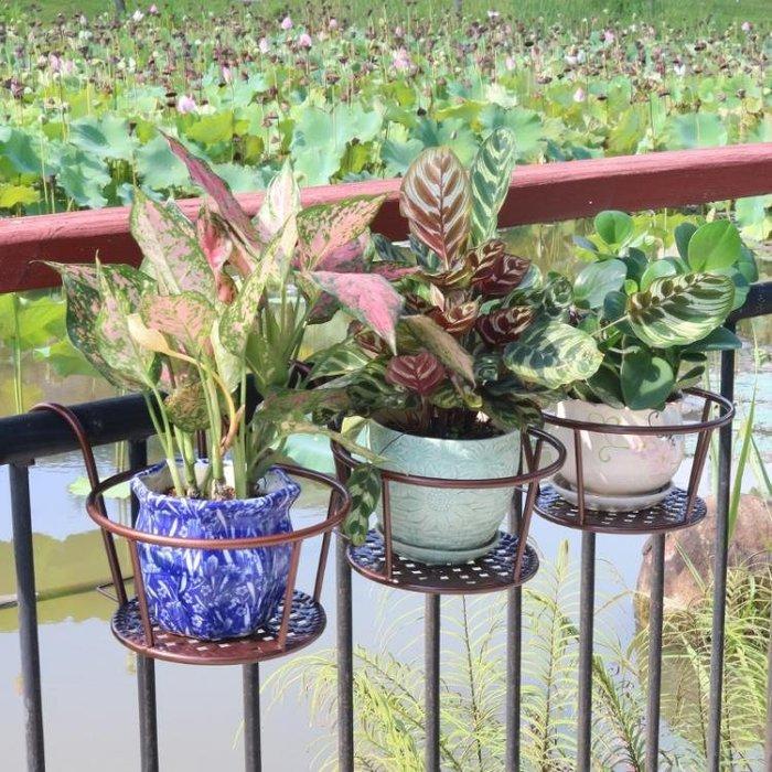 陽臺花架懸掛掛式綠蘿吊蘭花盆架掛架護欄鐵藝窗臺花架子歐式室內