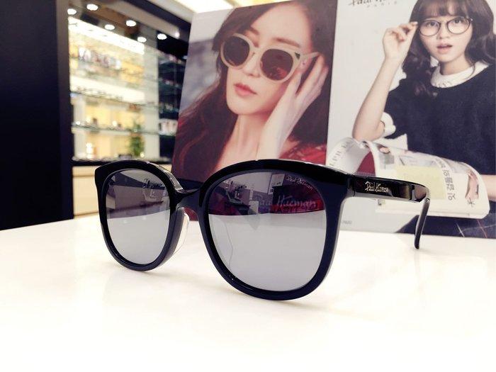 Paul Hueman 韓國熱銷品牌 黑色太陽眼鏡水銀鏡面 優雅氣質 海報主打框 PHS1108A 1108