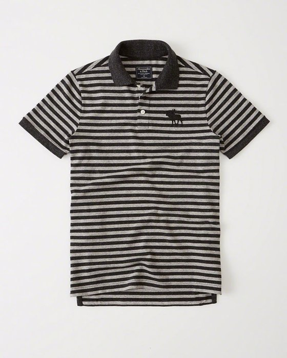 Abercrombie & Fitch Polo衫 121-224-0864-104 MY-麋鹿 全新真品 HCO AF