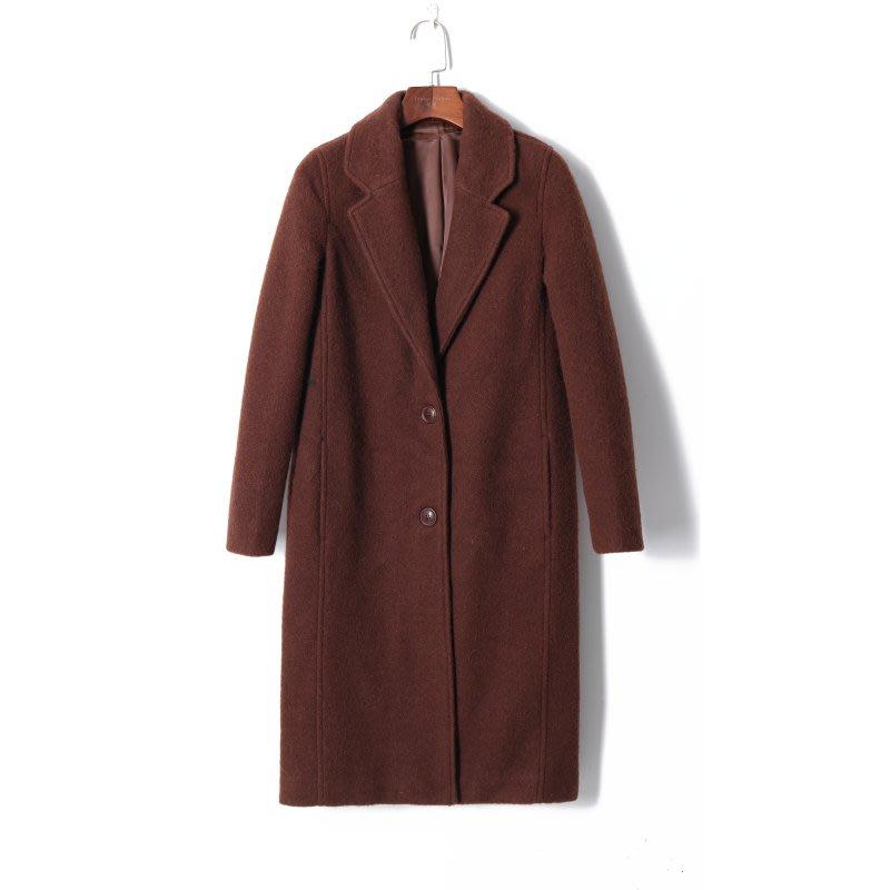 日本大牌 Moussy 翻领合身瞬間保暖百搭中長款 羊毛 毛呢 外套 (免運費)