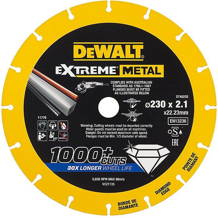 """【大黃工具】美國 DEWALT 得偉 9吋鑽石鋸片 規格 9"""" 金屬鋸片 切割鋸片 鐵管白鐵 金屬切片 DT40255"""