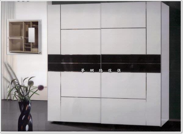 【龍來傢俱】《曼舒7尺白色衣櫥》外觀線條優美,造型簡單!