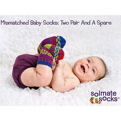 *~Freaky House~*   美國品牌SOLMATE SOCKS BABY火爆日本的手工編織彩色襪厚襪嬰兒襪-美國製