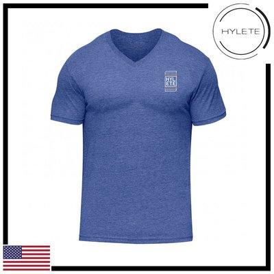 ►瘋狂金剛◄藍色 HYLETE wavelength tri-blend v-neck tee 柔軟 透氣 短袖T恤