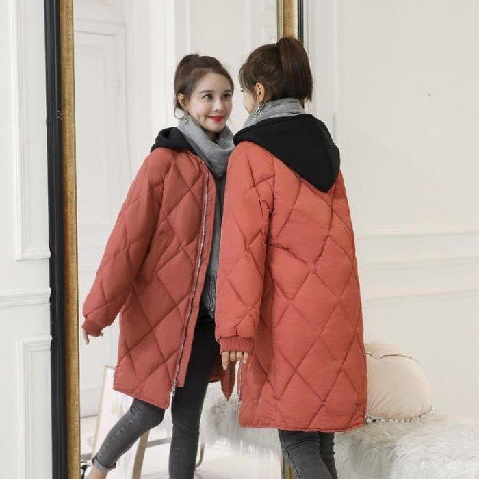 棉襖新款冬裝韓版羽絨棉面包服外套加厚可拆帽棉服女中長