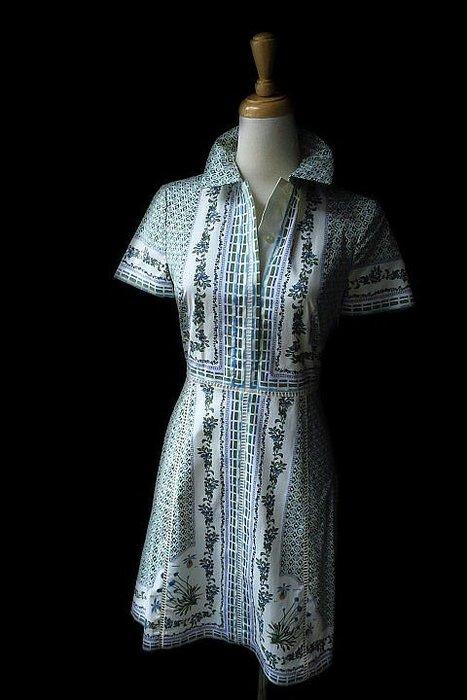 *Beauty*TORY BURCH綠色小花綴蕾絲短袖洋裝  0  號  9000    元WE18