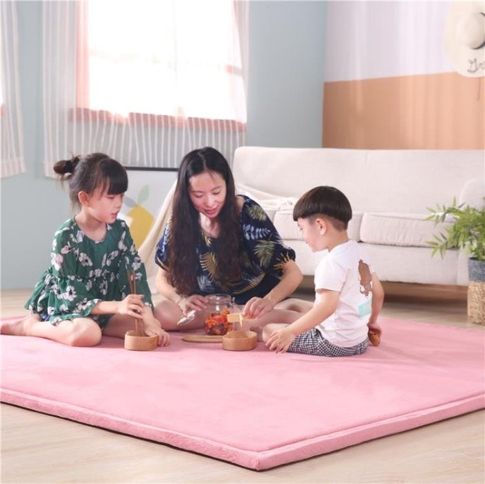 嬰兒爬行墊 榻榻米地墊客廳臥室加厚地毯墊子兒童爬行墊寶寶防摔床邊毯飄窗墊