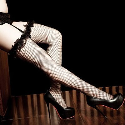 【M-15】中大尺碼可☆超彈性性感花圈大腿網襪☆HoneyMoon蜜月假期