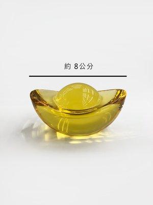 金黃元寶大 六種尺寸 聚寶 招財 開運  可放聚寶盆 現貨 水晶玻璃 K9料