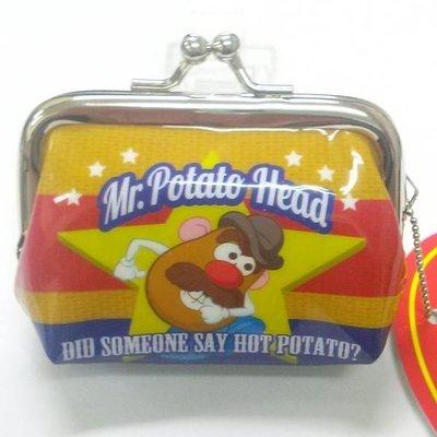 尼德斯Nydus~* 日本正版 迪士尼 玩具總動員 馬鈴薯先生 Mr.Potato 雙珠扣零錢包 雙扣 約7x8cm