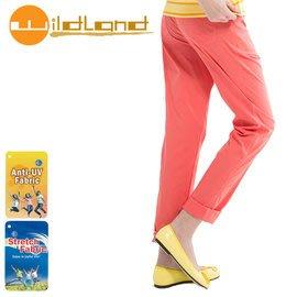 丹大戶外【Wildland】荒野 女款 彈性合身時尚透氣長褲 0A11337-78 粉橘色