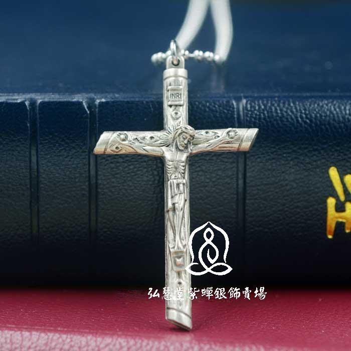 【弘慧堂】  意大利進口樹棍形十字架配鏈5.7cm 天主教聖物 耶穌基督