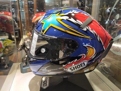 瀧澤部品 日本 SHOEI X-14 全罩安全帽 NORICK 04 阿部典史 頂級 選手彩繪 X14 透氣舒適