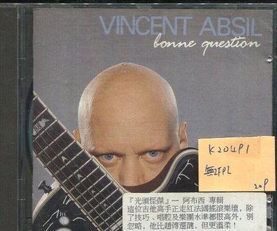 *真音樂* VINCENT ABSIL / BONNE QUESTION 二手 K20491 (無IFPI)
