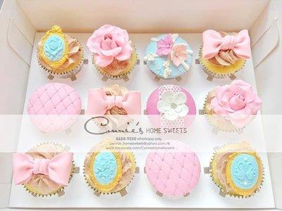 【Connie's Home Sweets】Wedding cupcake 婚宴回禮cupcake 生日cupcake birthday cupcake