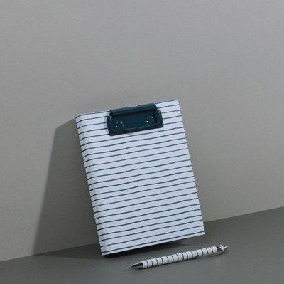 當日寄出[現貨]英國代購 英國PAPERCHASE A6板夾筆記本 藍色條紋(不含筆)
