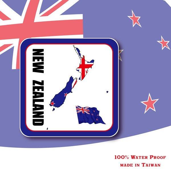 【衝浪小胖】紐西蘭國旗領土防水、抗UV登機箱貼紙/多尺寸、各國都有賣和客製/New Zealand