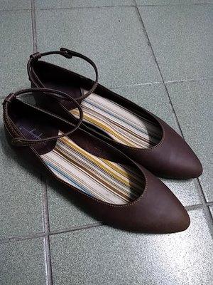 tempting真皮娃娃鞋37