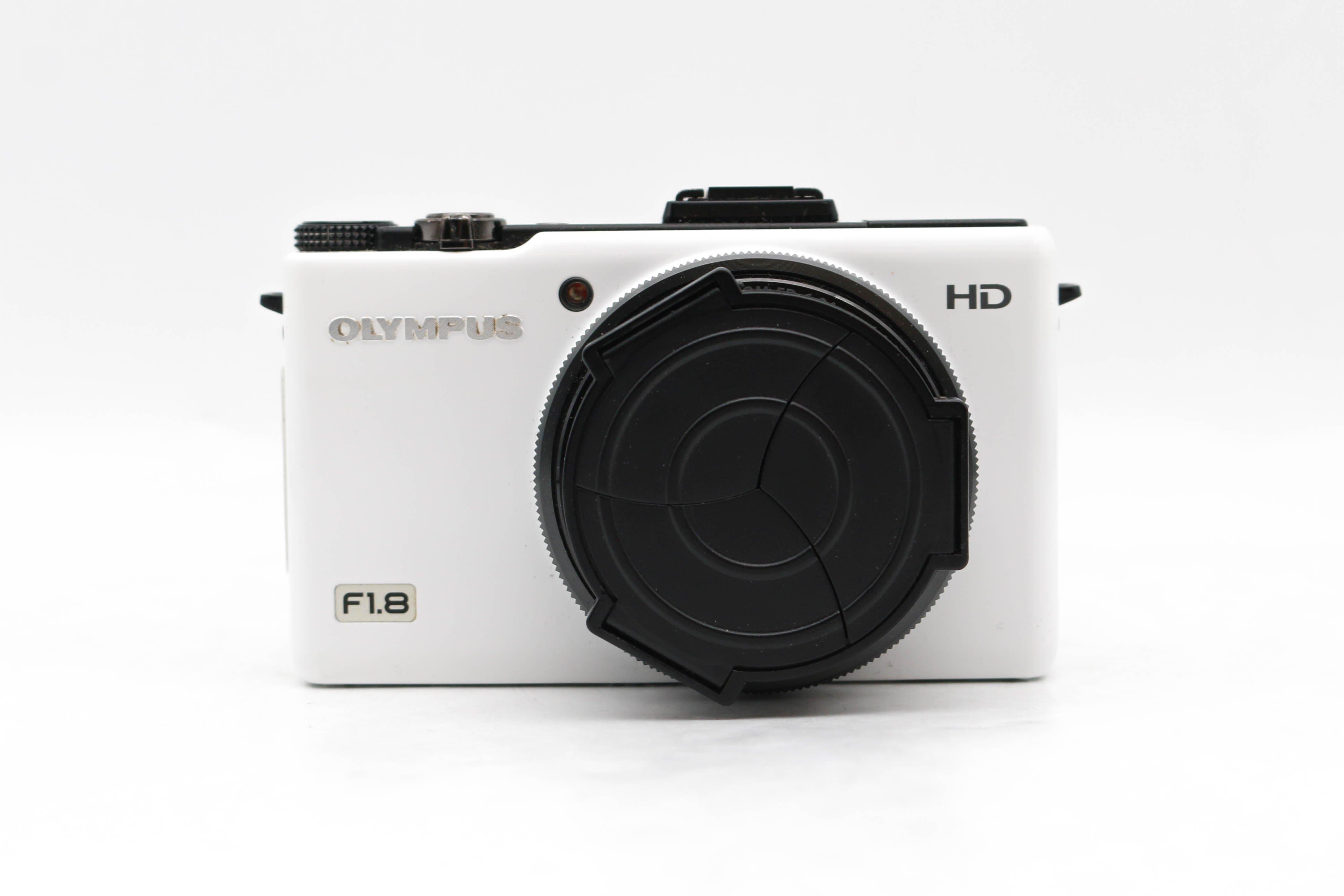 【台南橙市3C】OLYMPUS XZ XZ-1 F1.8 大光圈 4倍變焦 數位相機 二手相機 白#43799