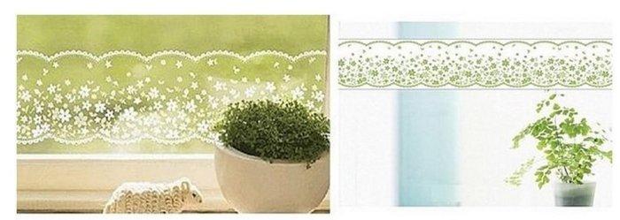 小妮子的家@韓國進口滿天星蕾絲玻璃.鏡面.瓷磚防曬防水透明腰線.玻璃貼膜LB-011
