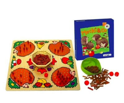 【晴晴百寶盒】德國進口 刺蝟桌遊 創意注意力刺蝟遊戲 益智玩具 益智遊戲 送禮禮物禮品 創意寶寶早教益智遊戲 W055