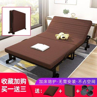 折疊床免安裝單人折疊床辦公室午休午睡床家用雙人床值班酒店加床陪護床