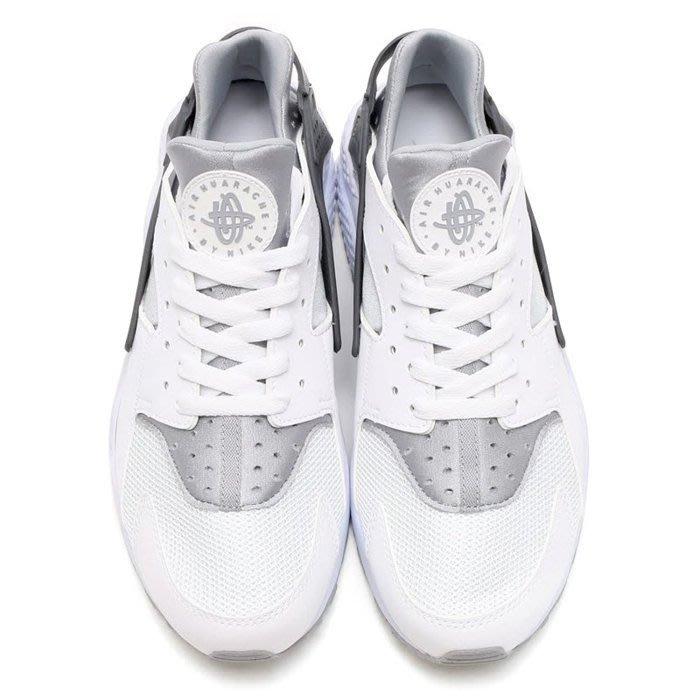 11全新正品 NIKE AIR HUARACHE 白灰黑 漸層 皮革 網面 慢跑鞋 318429-103 台灣公司貨