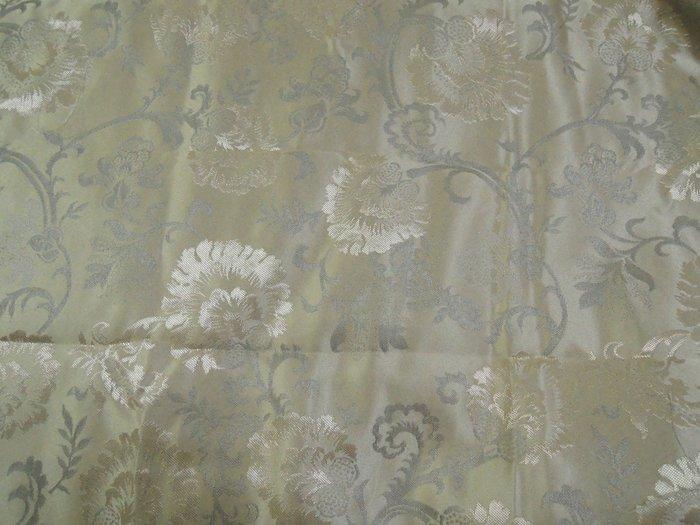 零碼 香槟金花朵 布料 布料 120x80cm 二塊一起賣 可作小窗簾