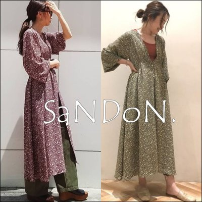 SaNDoN x『UNGRID』冬季新入荷 簡約可愛的小花柄罩衫 洋裝 OP SLY 181022