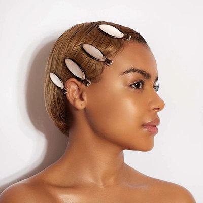 <現貨正品> Kitsch美國品牌 玫瑰金橢圓瀏海固定夾 四個組 家用髮夾
