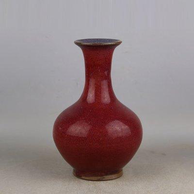 ㊣姥姥的寶藏㊣ 宋代鈞窯玫瑰紫窯變釉賞瓶  出土古瓷器手工瓷古玩收藏擺件