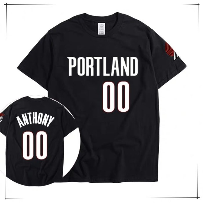💖甜瓜Carmelo Anthony安東尼短袖T恤上衣💖NBA拓荒者隊Adidas運動籃球服T-shirt男395