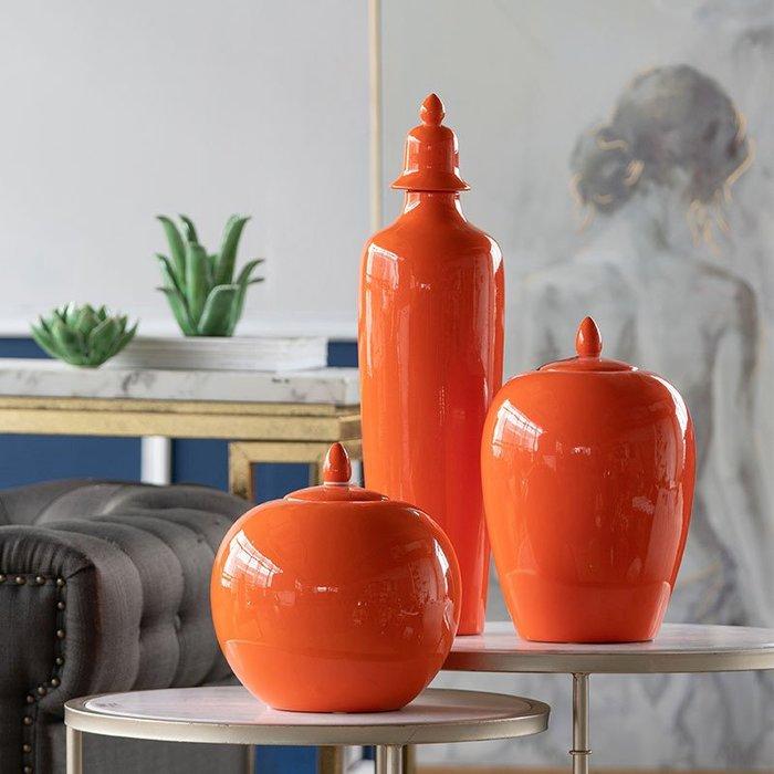 〖洋碼頭〗美國 陶瓷將軍瓶花瓶儲物罐擺件軟裝設計師陳列擺件 shx361