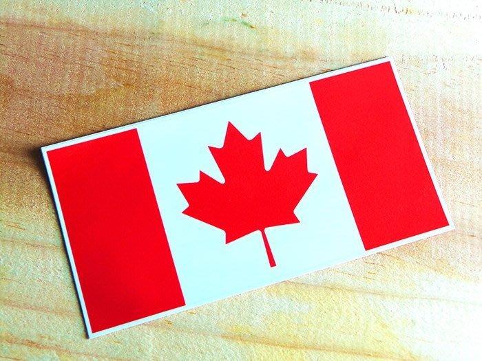 【國旗貼紙專賣店】2入組。加拿大長形旅行箱貼紙/抗UV防水/Canada/各國、多尺寸都可訂製