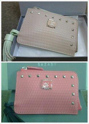 SAZABY包 鑰匙包/鑰匙圈 防刮牛皮 附長鏈 蜜桃色 or 優雅粉膚 全新 日本購入 ~