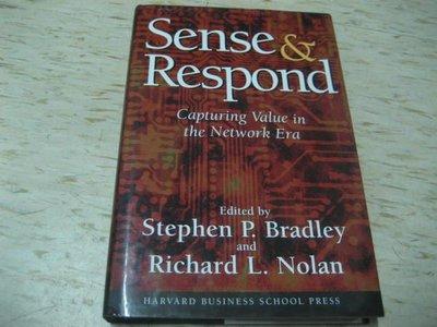 【邱媽媽二手書】Sense & Respond --1998年出版/ ISBN:0875848354