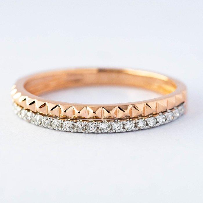 【JHT金宏總珠寶/GIA鑽石專賣】0.13克拉小鑽線戒 #10 /材質:18K(DR1547A)